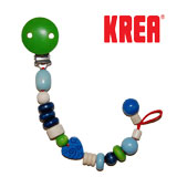Krea dummy holder with hearts, blue