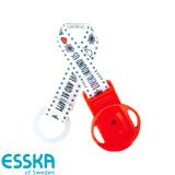Esska dummy holder with LOVE, red