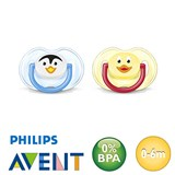 Philips Avent Classic, symmetrical, silicone size 1 (light blue, yellow)