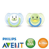 Philips Avent Classic, symmetrical, silicone size 2 (light blue, light green)