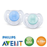 Philips Avent Classic, symmetrical, silicone size 2 (blue, turquoise)