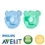 Philips Avent Soothie, round, silicone size 2