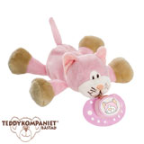 Teddykompaniet Diinglisar cuddly toy with dummy holder, cat