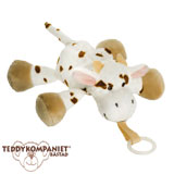Teddykompaniet Diinglisar cuddly toy with dummy holder, cow