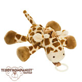 Teddykompaniet Diinglisar cuddly toy with dummy holder, giraffe
