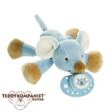 Teddykompaniet Diinglisar cuddly toy with dummy holder, mouse