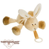 Teddykompaniet Diinglisar cuddly toy with dummy holder, rabbit