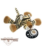 Teddykompaniet Diinglisar cuddly toy with dummy holder, tiger