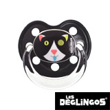 Les Deglingos dummy, orthodontic, silicone, size 2 (black cat)