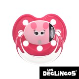 Les Deglingos dummy, orthodontic, silicone, size 2 (pink mouse)