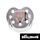 Les Deglingos dummy, orthodontic, silicone, size 2 (gray wolf)