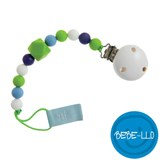 Bebe-llo Dummy Chain, silicone, white/green