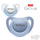NUK Genius, orthodontic, silikone size 1
