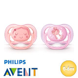 Philips Avent Ultra Air soothers, symmetrical, silicone, size 1 (rosa, coral)