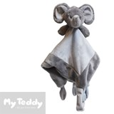 My Teddy security blanket, grey, elephant