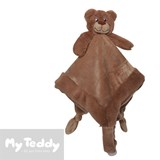 My Teddy security blanket, brown, bear