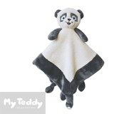My Teddy comfort blanket, white, panda