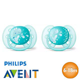 Philips Avent Ultra Soft Soothers, symmetrical, silicone, size 2