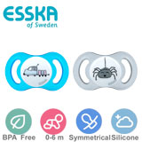 Esska Happy mini, symmetrical, silicone, size 1 (blue, transparent)