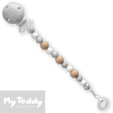 My Teddy Dummy Chain, My Baby Rocks, grey/mable