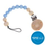 Bebe-llo Dummy Chain, silicone, Baby Blue