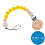 Bebe-llo Dummy Chain, silicone, Lemon